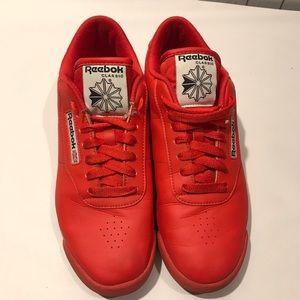 Reebok Classics | Bright Red Fashion Sneakers
